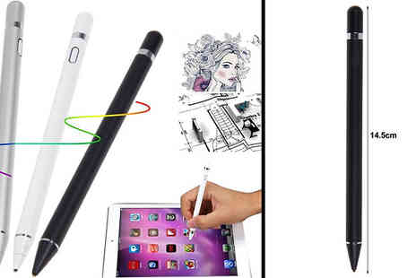 Domo Secret - Digital Active Stylus Pen For Apple iPad Choose Three Colours - Save 75%