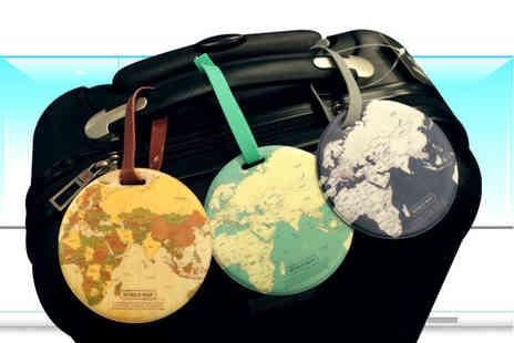 Domo Secret - Set of four globe luggage tags - Save 65%