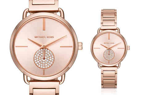 Ticara Watches - Michael Kors MK3640 rose gold tone crystal watch - Save 44%
