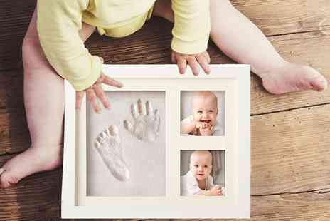 Groupon Goods Global GmbH - One or Two Baby Hand and Footprint Picture Frames - Save 0%