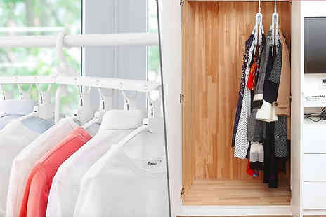 Domo Secret - Wardrobe Bundle Space Saving Hangers Plus Motion Sensor Lights - Save 80%