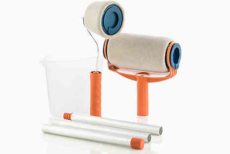 Shop Story - Anti Spatter Refillable Paint Roller Pro With Pour The Paint Inside - Save 35%