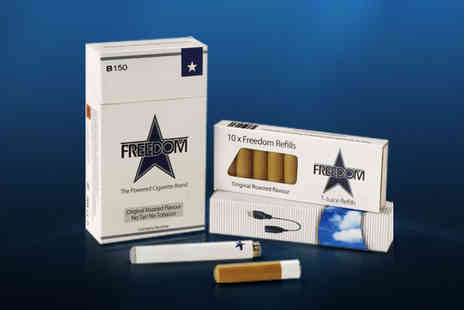 Freedom Cigarettes - Starter Kit of Freedom Powered Cigarettes plus three packs of each refill flavour - Save 63%