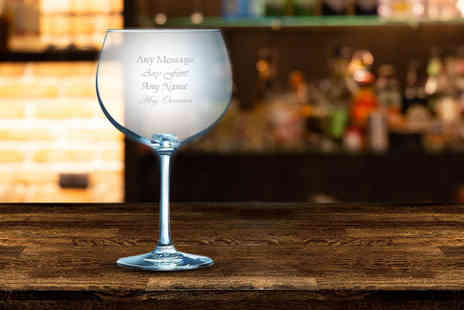 CNC Group - Personalised engraved gin balloon glass - Save 29%