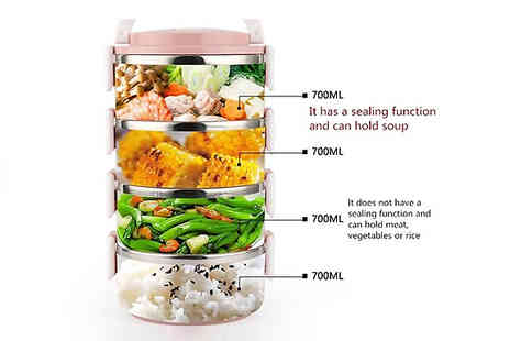 Best mall ever - Multi Layer Insulated Stainless Steel Lunch Box Choose from 3 Colours - Save 86%