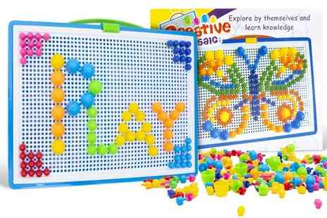 Ckent - 296pc Kids Pegboard Play Set - Save 75%