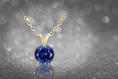 Evoked Design - Blue topaz necklace choose from two colours - Save 89%