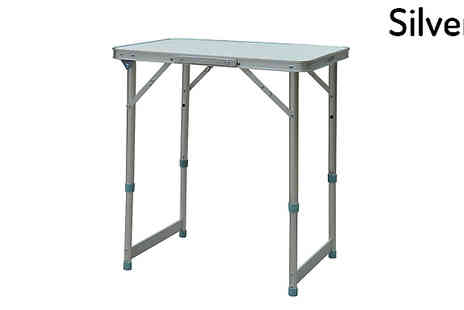 Mhstar - Foldable Picnic Table Choose Two Sizes - Save 64%