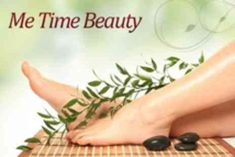 Me Time Beauty - Foot Callus Peel Plus Express Pedicure or Manicure - Save 63%