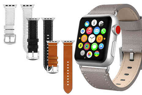 Gemnations - Apple compatible leather watch strap - Save 72%