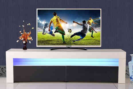 Bells Bay - High gloss Led 2 drawer TV cabinet - Save 63%