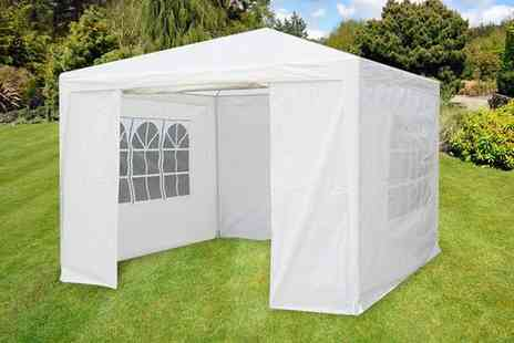 Who Needs Shops - White waterproof gazebo - Save 68%