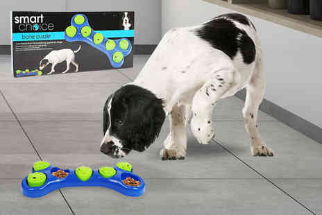 London Exchain Store - Bone shaped treat puzzle for dogs - Save 77%