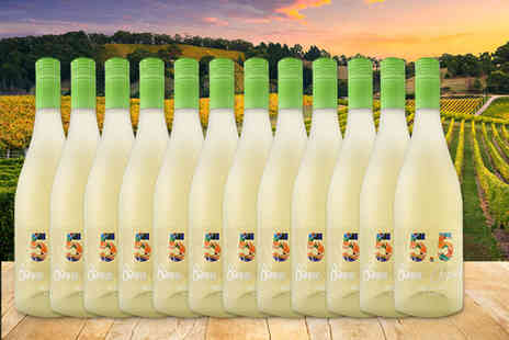 All My Wine - Set of 12 bottles of Verdejo Moscato Frizante white wine - Save 69%