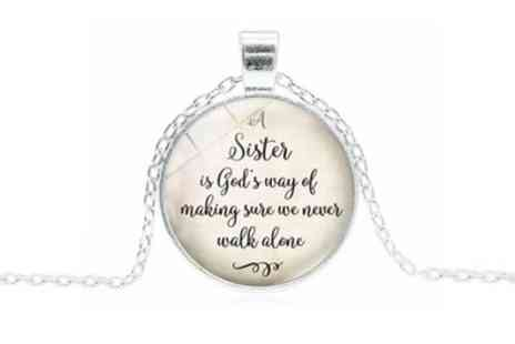 Groupon Goods Global GmbH - One or Two Sister Quote Necklaces - Save 87%