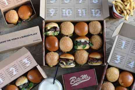 Bite Me Burgers - Bottomless Mini Burgers and Fries with a Glass of Prosecco or Beer - Save 0%