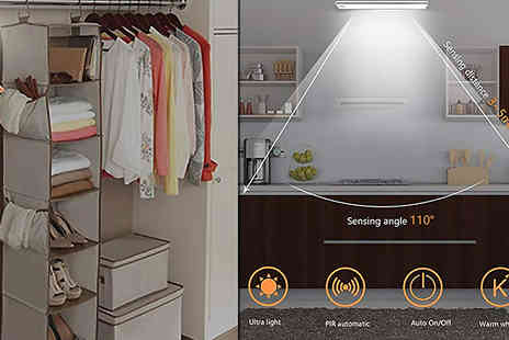 Buy Something - Wireless Usb Rechargeable Sensor Light With Adhesive Hooks Choose 1 or 2 - Save 75%