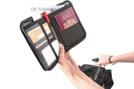 Groupon Goods Global GmbH - Up to Ten Travel Document and Passport Holders - Save 57%