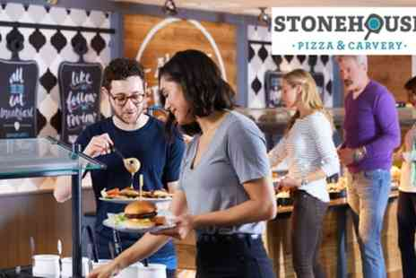 Stonehouse Pizza & Carvery - Carvery or Main Meal with Wine, Beer or Soft Drink for Two - Save 42%
