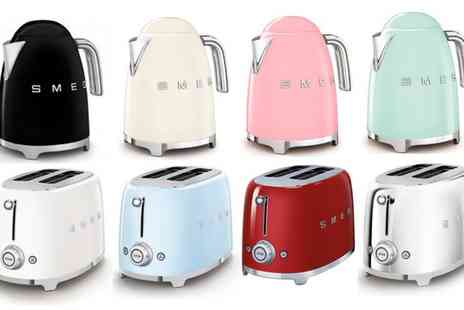 Groupon Goods Global GmbH - Smeg Toaster or Kettle Available in Eight Colours With Free Delivery - Save 38%