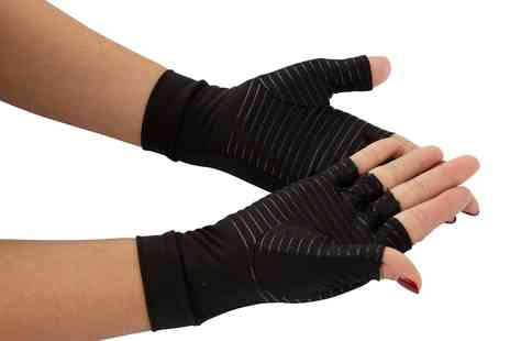 Groupon Goods Global GmbH - One or Two Pairs of Copper Infused Compression Arthritis Gloves - Save 0%