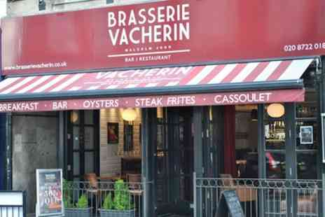 Brasserie Vacherin - Two Course Sunday Roast with Wine for Two or Four - Save 52%