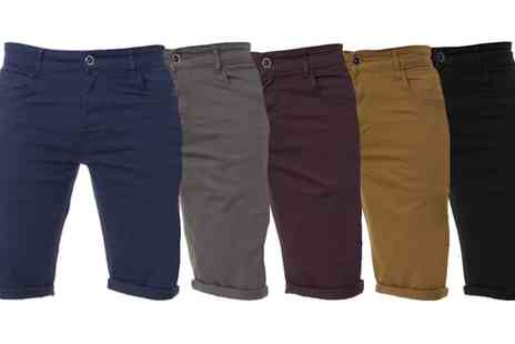 Groupon Goods Global GmbH - Kruze Jeans Slim Fit Stretch Chino Shorts - Save 59%