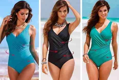 Verso Fashion - One piece swimsuit choose from three colours - Save 68%