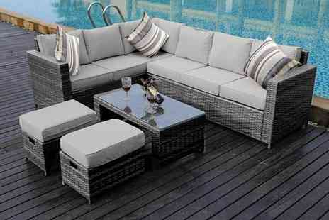 Dreams Outdoors - Eight Seater rattan sofa set or sofa set with rain cover - Save 53%