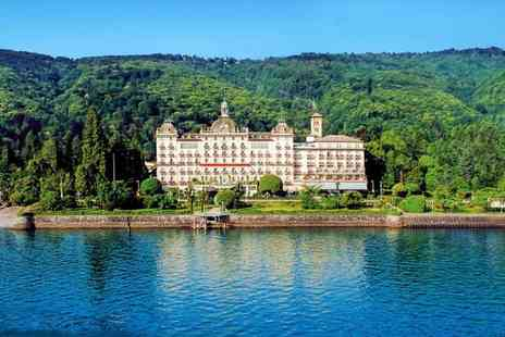 Grand Hotel Des Iles Borromees - Five Star Luxury Collection: Lakeside Art Nouveau Spa Hotel for two - Save 78%