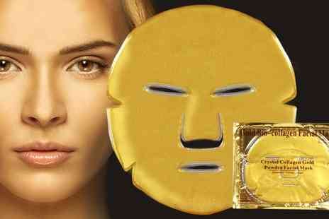 Groupon Goods Global GmbH - Up to 60 Collagen Eye or Face Masks - Save 0%