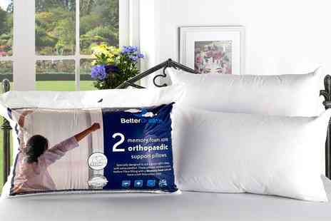 Groupon Goods Global GmbH - Two, Four or Six Memory Foam Core Pillows - Save 80%