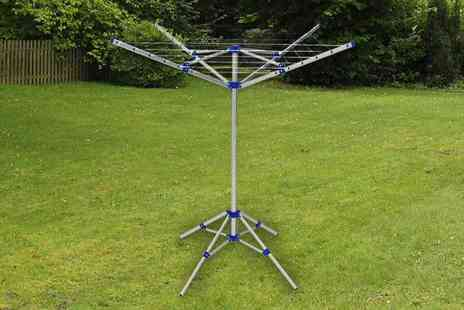 WhoNeedsShops - Four arm rotary washing airer - Save 73%