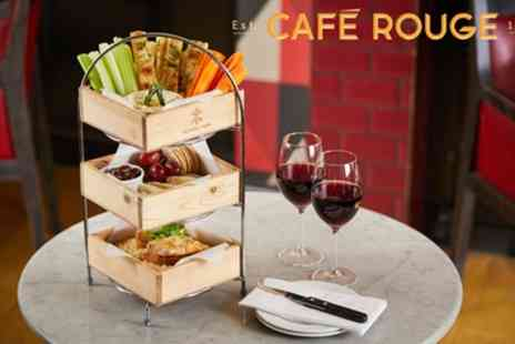 Cafe Rouge - Cheese Lovers Afternoon Tea with Glass of Wine for Two - Save 36%