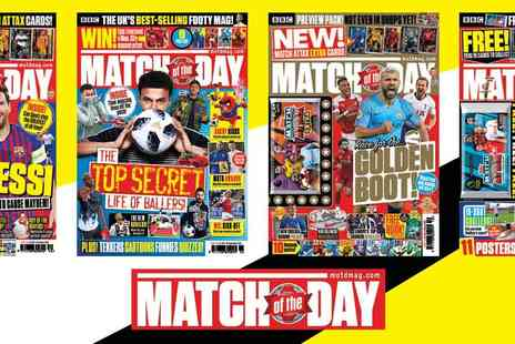 Match of the Day - 3 Month Subscription Magazine Fantastic For Footy Mad Fans - Save 29%