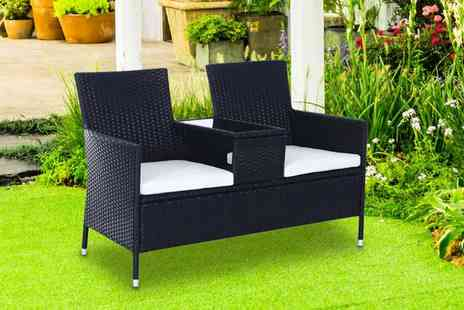 Mhstar - Rattan chair set with middle table choose from two colours - Save 51%