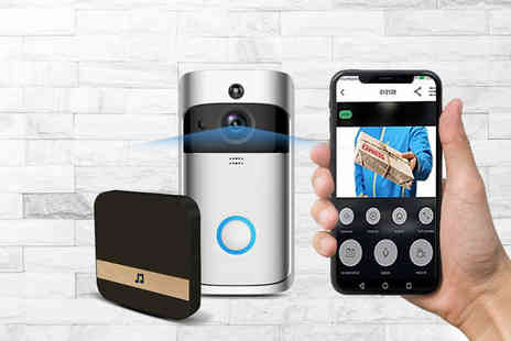 Wow What Who - WiFi security doorbell choose from two colours - Save 64%