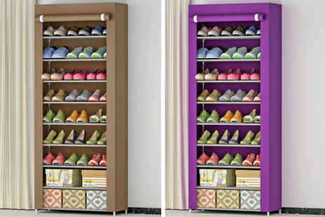 hey4beauty - Dustproof shoe organiser choose from two colours - Save 69%