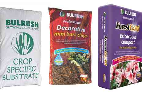 Groupon Goods Global GmbH - Bulrush Compost or Bark Chips - Save 0%