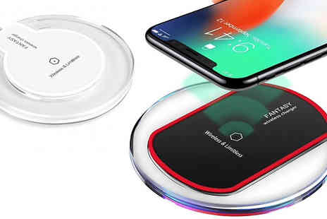 Snap One Up - Universal Smartphone Wireless QI Charging Pad Available in Two Colours - Save 85%