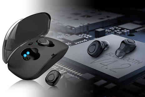 Wow What Who - Set of Bluetooth wireless stereo earbuds - Save 74%