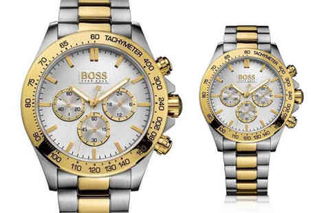 Best Watch Company - Two tone Hugo Boss mens Ikon chronograph watch - Save 67%