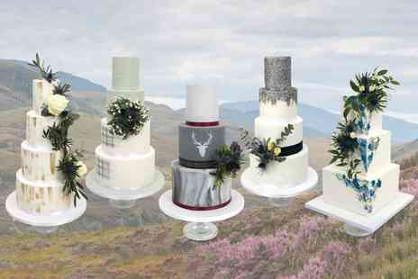 3D Cakes - Two tier bespoke wedding cake from award winning cake designer David Duncan - Save 0%