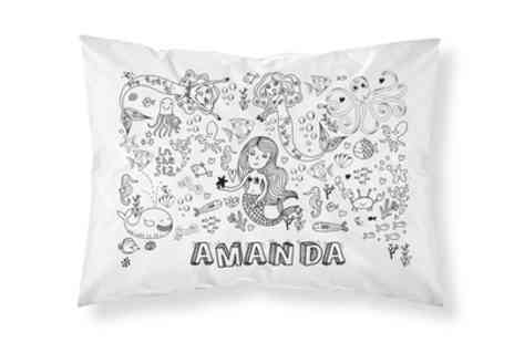 Personalised Gifts Market - One or Two Personalised Doodle Pillowcases with Washable Markers - Save 72%