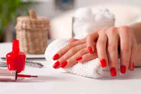 Model Off Duty Beauty - Shellac Manicure, Pedicure or Both - Save 40%