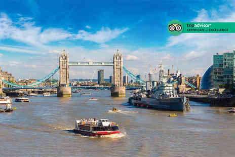 City Cruises - Thames cruise for two people including a two course lunch - Save 30%