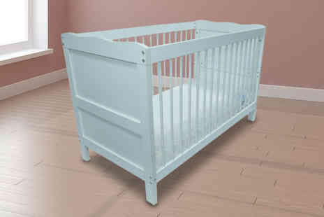 Bells Bay - Solid wooden cot or cot with a quilted mattress choose from two sizes - Save 59%