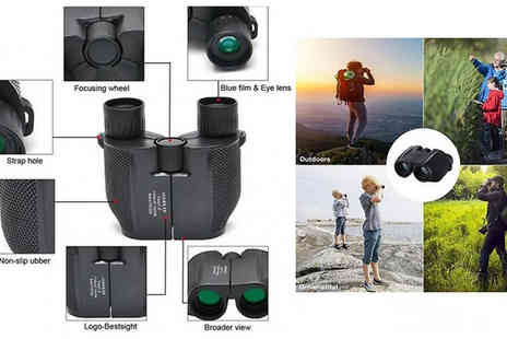 MBLogic - 10 x 25 Compact Waterproof Binoculars - Save 72%
