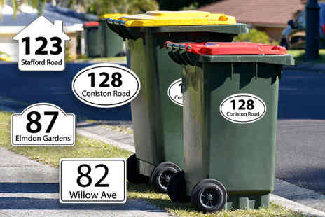 Deco Matters - Set of six personalised wheelie bin stickers - Save 82%