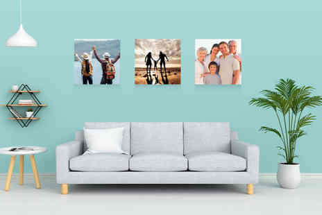 Deco Matters - Set of 3 personalised photo canvases - Save 87%